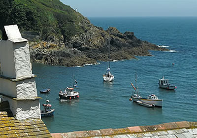 The south west coast path at Polperro