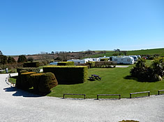 Caravan pitches at Looe Country Park