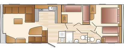 Static caravan holiday layout