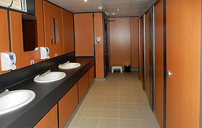 Modern washrooms and showerblock